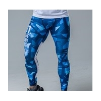 MENS LEGGINS BLUE&WHITE